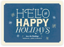 Antique Typography Holiday Non-Photo Cards