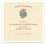 Mistletoe Flourish Holiday Non-Photo Cards