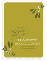 Mistletoe Holiday Non-Photo Cards