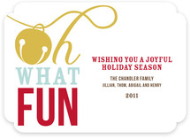 Oh What Fun Holiday Non-Photo Cards