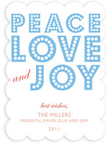 float + peace Holiday Non-Photo Cards