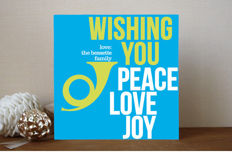 Peace Love and Bop Holiday Non-Photo Cards