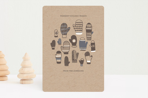 Mitten Pattern Holiday Card Holiday Cards