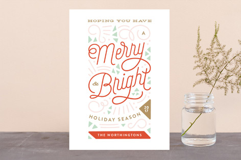 Merry Triangles Holiday Cards