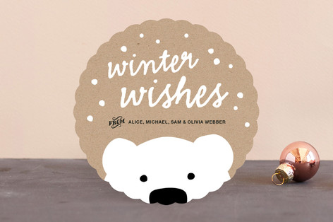 Polar Bear Wishes Holiday Cards