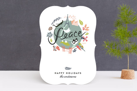 peace on earth holiday cards by lori wemple minted