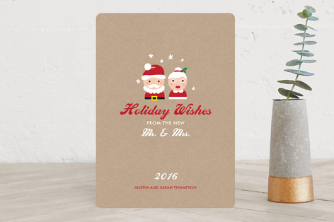 Mr. & Mrs. Wishes Holiday Cards