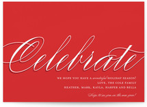In Style Celebration Holiday Non-Photo Cards