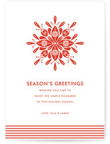 Nordic Snowflake Holiday Non-Photo Cards