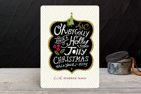 Holly Jolly Wishes Holiday Cards