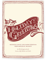 Vintage Greetings Holiday Non-Photo Cards