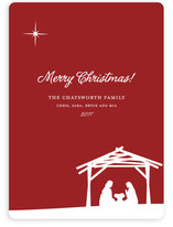 Away In a Manger Holiday Non-Photo Cards