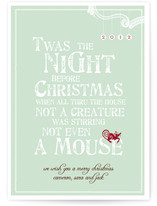 Mouse Holiday Non-Photo Cards