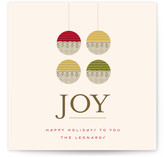 Organic Ornament Holiday Non-Photo Cards
