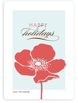 Frosted Poppy Holiday Non-Photo Cards