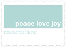 Modern Joy Holiday Non-Photo Cards