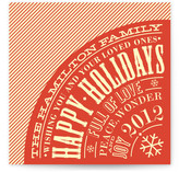 Vintage Typography Poster Holiday Non-Photo Cards