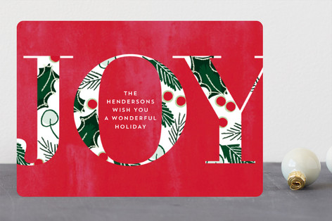 Joyful Fade Holiday Cards