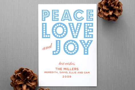 float+peace holiday non-photo card by Float Paperie