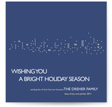 Night Lights Holiday Non-Photo Cards