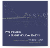 Night Lights SF Holiday Non-Photo Cards