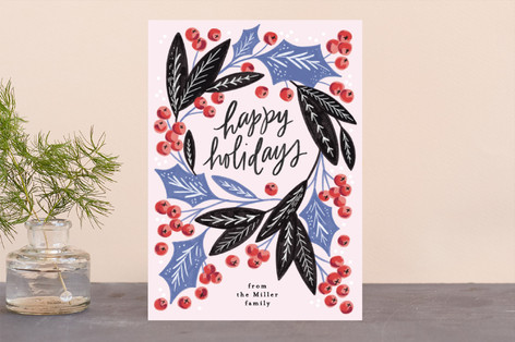 Peace and Joy Berries Holiday Cards