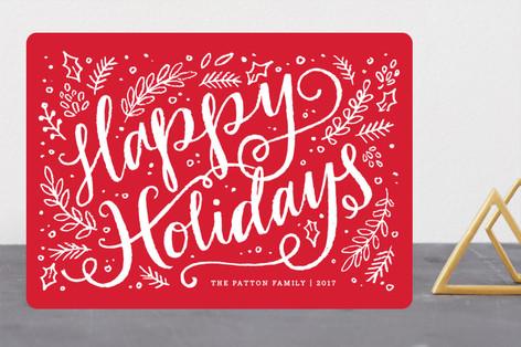 Brushy Holiday Holiday Cards