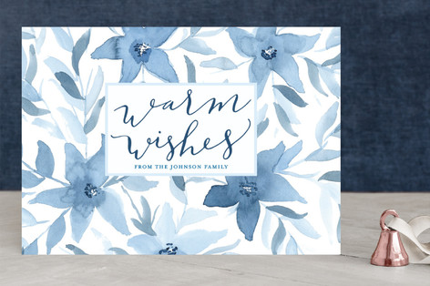 Floral Warm Wishes Holiday Cards By Sweetgrass Pap Minted