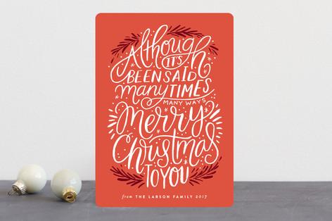 many times, many ways Holiday Cards