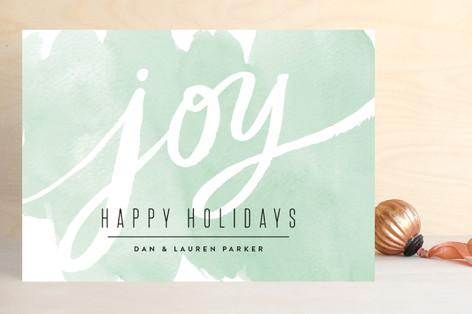 Watercolor Wash Joy Holiday Cards
