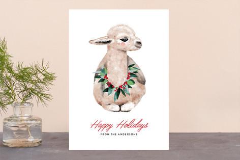 baby llama Holiday Cards