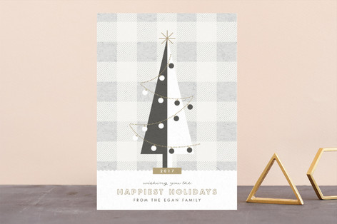 gingham tree Holiday Cards