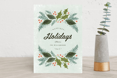 winter evergreens Holiday Cards