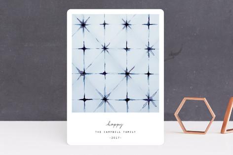 winter shibori Holiday Cards