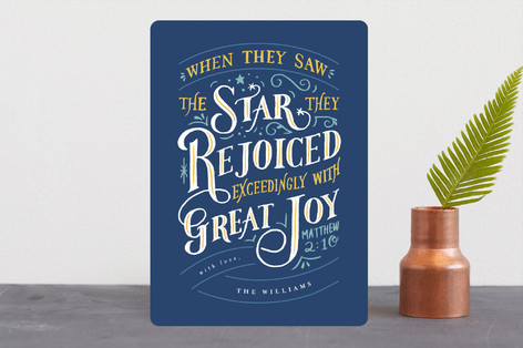 Rejoiced with Great Joy Holiday Cards