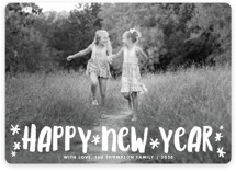 Fun Happy Type New Year Photo Cards