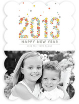 2013 in Confetti New Year&#039;s Photo Cards