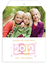 Color Blocks New Year's Photo Cards