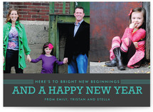 Bright Beginnings New Year's Photo Cards