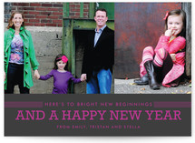 Bright Beginnings New Year&#039;s Photo Cards