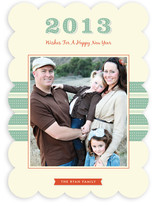 Retro New Year New Year's Photo Cards