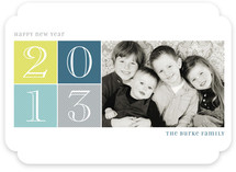 Brightly Gridded New Year's Photo Cards
