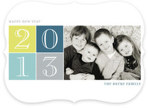Brightly Gridded New Year&#039;s Photo Cards