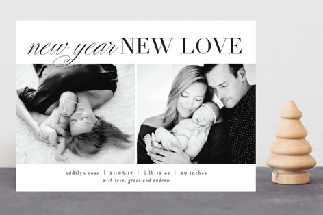New Year New Love New Year Photo Cards