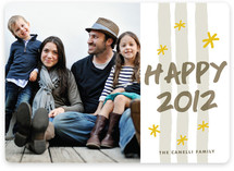 Sparkler New Year's Photo Cards