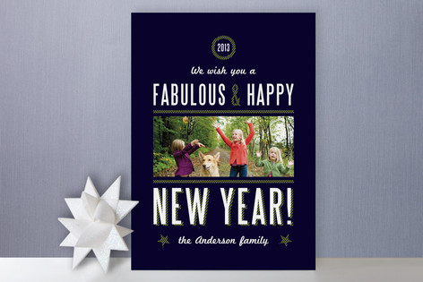 Yacht Club New Year's Photo Cards