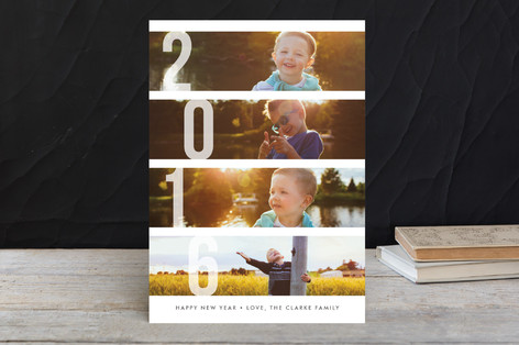 Stacked Photos New Year's Photo Cards