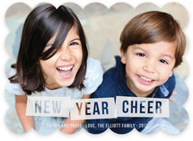 Frosted Cheer New Year&#039;s Photo Cards