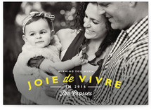 Joie de Vivre New Year&#039;s Photo Cards
