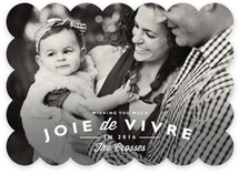 Joie de Vivre New Year's Photo Cards